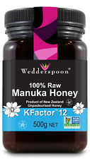 Wedderspoon Raw Kfactor 12 Manuka Honey 500g