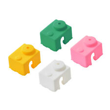 4Pcs Heated Block Silicone Cover Case Maintenance for 3D Printer E3D V6 Hotend