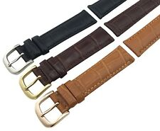 For TISSOT Watch BLACK BROWN Genuine Leather Strap Band Buckle 18 19 20 21 22mm