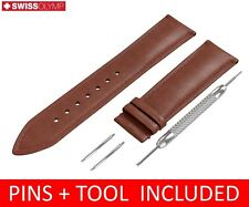 For TISSOT Watch BROWN Genuine Leather Strap Band Buckle Clasp 20mm 22mm