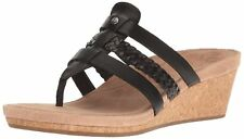 UGG Australia Womens Maddie Leather Open Toe Casual Platform Sandals