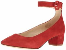 Nine West Womens brianyah Fabric Closed Toe Ankle Strap Classic Pumps