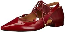 Calvin Klein Womens Evalyn Closed Toe Ankle Wrap Ballet Flats