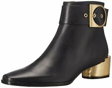Calvin Klein Womens Andrina Leather Pointed Toe Ankle Chelsea Boots