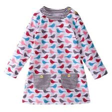 Baby Girl Dress with Bird Animals Princess Dresses Children Clothing for Kids