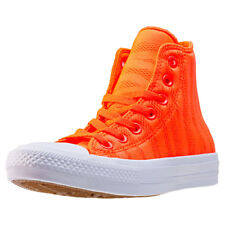 Converse Ct All Star Ii Zebra Knit Hi Unisex Orange Mesh Trainers