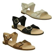 39f91a9ea2af82 LADIES CLARKS LEATHER FLAT BUCKLE CASUAL SUMMER SANDALS SHOES SIZE BAY  PRIMROSE