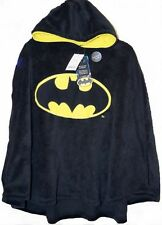 BATMAN:BRAND NEW HOODED FLEECE CAPE,LARGE APPROX 6-12YR,NEW WITH TAGS