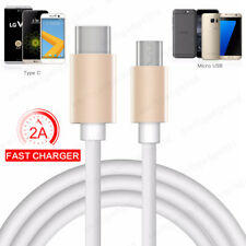 Micro USB to Type C Cable Fast Charger Lead Wire for Samsung S7 S6 Sony MacBook