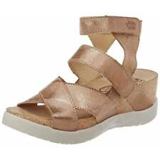 Womens Ladies Fly London Wege669 Strappy Sandals Wedge Leather Assorted Colours