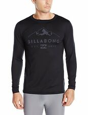 Billabong Top Men's First Layer Technical Sports Tee for Surf Snow XL Black NWT