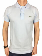 Lacoste L1212-00 Mens S/S Logo Branded Polo Shirt in Blue Rill