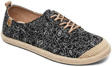 Roxy Flora Lace Up Deck Shoes in Black