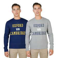 OXFORD UNIVERSITY Felpa Uomo Maniche Lunghe Sport Casual Cotone Regular Fit DD