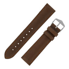Hirsch MERINO Nappa SHEEP hide PADDED Leather Watch Strap in GOLD BROWN