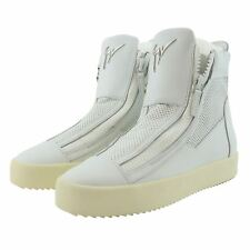 Giuseppe Zanotti Somerset Women White Perforated Leather High-Top Sneaker Shoes