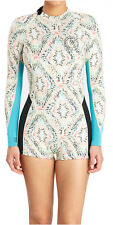 BILLABONG WOMENS 8 10 12 WETSUIT SURF CAPSULE FEVER LS SPRING SUIT ALOE 2MM