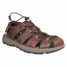 BRIXBY COVE MENS CLARKS CLOSED TOE LEATHER SLINGBACK FISHERMAN SUMMER SANDALS