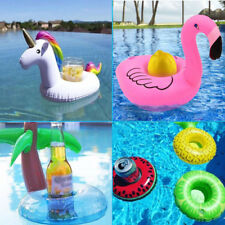 Inflatable Cup Beer Holder Floating Swimming Pool Beach Drink Can Boat Toy