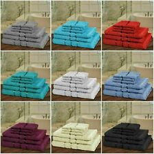 6 PIECE BATHROOM BALE TOWEL SET SOFT SATIN BATH 100% EGYPTIAN COTTON TOWELS UK.,