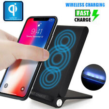 3 Coils Qi Wireless Fast Charger Foldable Charging Holder Stand Dock For Samsung