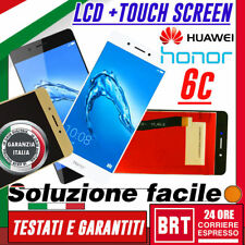LCD+TOUCH SCREEN HUAWEI HONOR 6C DIG-L01 NOVA SMART BIANCO NERO ORO _24H!