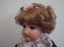 DOLLS WIG SHORT CURLS TODDLER STYLE STRAWBERRY BLONDE OR CARROT Emily