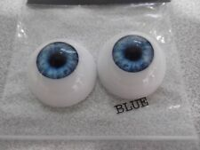 ACRYLIC HALF ROUND DOLL EYES IN BLUE IN A VARIETY OF SIZES