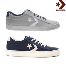 Converse ALL STAR pro leather vulc ox scarpe uomo donna vintage tela grigia blu
