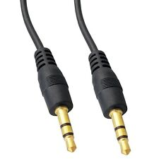 3.5mm Stereo Jack to Jack Cable Audio Auxiliary Lead Car Gold 0.5m 1m 1.5m 2m 3m