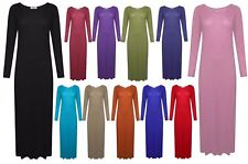 Brand New Ladies Long Sleeves Maxi Dress Size 8-26