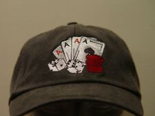 CASINO GAMBLING Hat Embroidered Cards Aces Dice Cap Price Embroidery Apparel