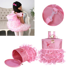 Dance Bag Backpack Ruffled for Ballerina Ballet Shoes Girls Children Pink Gift
