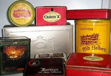 COLLECT UK TINS - TOBACCO / CIGARETTE 1960/80  click SELECT - to browse / order