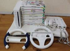 Nintendo Wii Console Bundle+11 Games+2 Controllers+2 S.Wheels+Fit Board-207