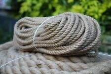 12mm 100% Natural Jute Rope Twisted Decking Cord Garden Boating Sash Camping