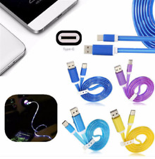1M 3.3ft LED Light USB 3.1 Type C To USB 2.0 A Data Sync Charger Cable For Mobil