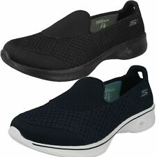 Ladies Skechers Trainers Go Walk 4 The Style 14145 Kindle-W