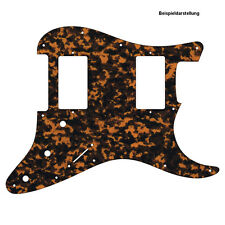 HH PICKGUARD für US / MEXICO STRAT Standard od. Floyd Rose Tremolo brown tiger