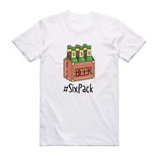 Funny 6 Pack Cotton T Shirt For Men Beer Theme Novelty Gift For Him