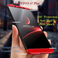 For Vivo V7 Plus v7+ Cover New 3 in 1 Luxury Matte Finish 360° Hybrid Back Case