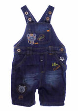 Baby Boys Denim Dungaree Jungle Animal Design 0-3 3-6 6-9 9-12 Months