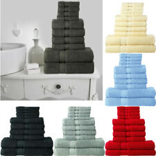 LUXURY TOWEL BALE SET 100% EGYPTIAN COTTON 10PC FACE HAND BATH BATHROOM TOWELS.