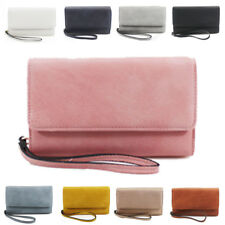 New Womens Flap Synthetic Leather Handbag Wristlet Purse Pouch Clutch Wallet Bag