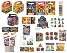 12 x SUPER HERO PARTY BAG FILLERS FAVOURS LOOT BAGS PARTY BOXES SUPER HERO