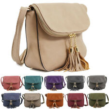 Womens Tassel Fashion Design Leather Handbag Crossbody Messenger Shoulder Bag