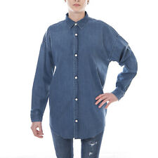 Carhartt Camicie W  L/S Silver Shirt Long Blue Stone Washed Blue