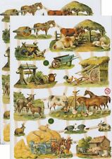 Cromo EF Recortes Animal Granja 7358 En relieve Corral De Ilustraciones
