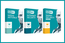 ESET NOD32, INTERNET SECURITY, SMART SECURITY - ORIGINALE - Seulement par mail