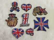 British Patriot Motorcycle Biker Patches / Badges - Embroidered - Sew On Breast